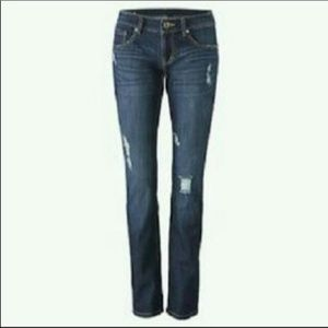 Cabi slim boyfriend distressed jeans 26/2 #3045